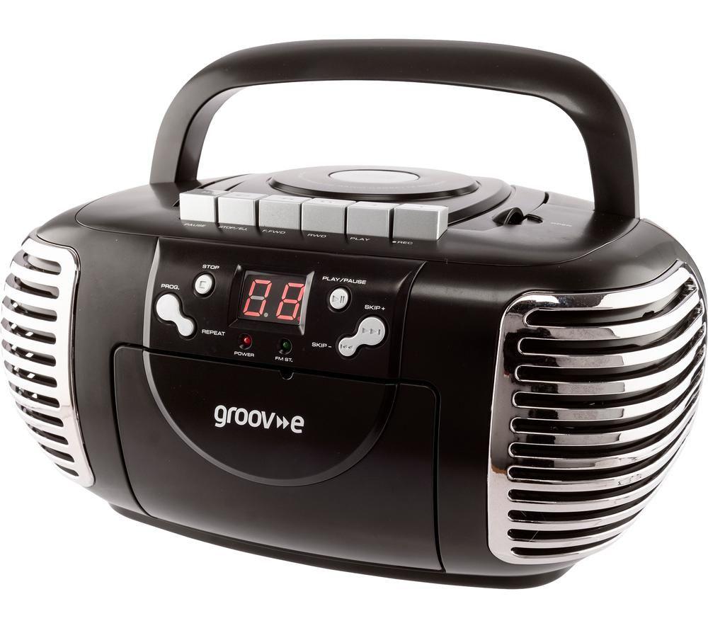 Image of GROOV-E Retro GV-PS813 Boombox - Black, Black