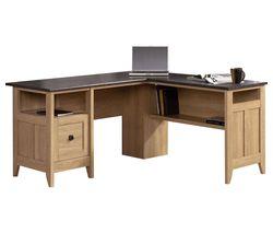 Home Study L-shaped Office Desk - Slate