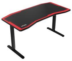 D16M Carbon Gaming Desk - Black & Red