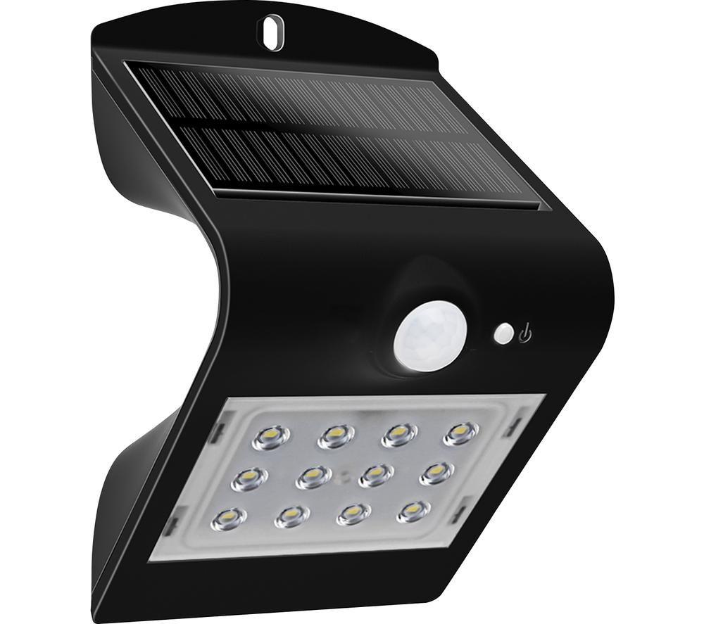 LUCECO Solar Guardian Wall Lamp - Black