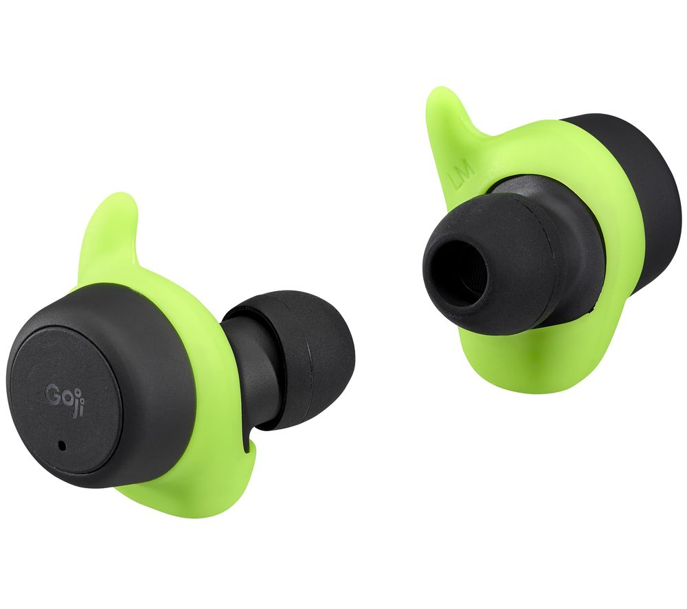GOJI GSBTW21 Wireless Bluetooth Sports Earphones - Black & Green