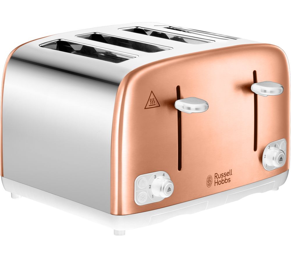 RUSSELL HOBBS 24095 4-Slice Toaster - Copper & Silver
