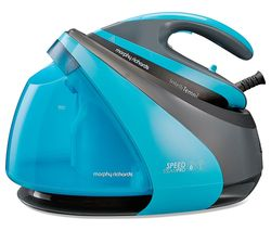 MORPHY RICHARDS Speed Steam Pro Intellitemp 332103 Steam Generator Iron - Black & Teal Best Price, Cheapest Prices