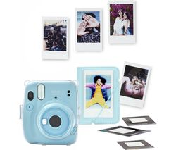 mini 11 Instant Camera Bundle - Sky Blue