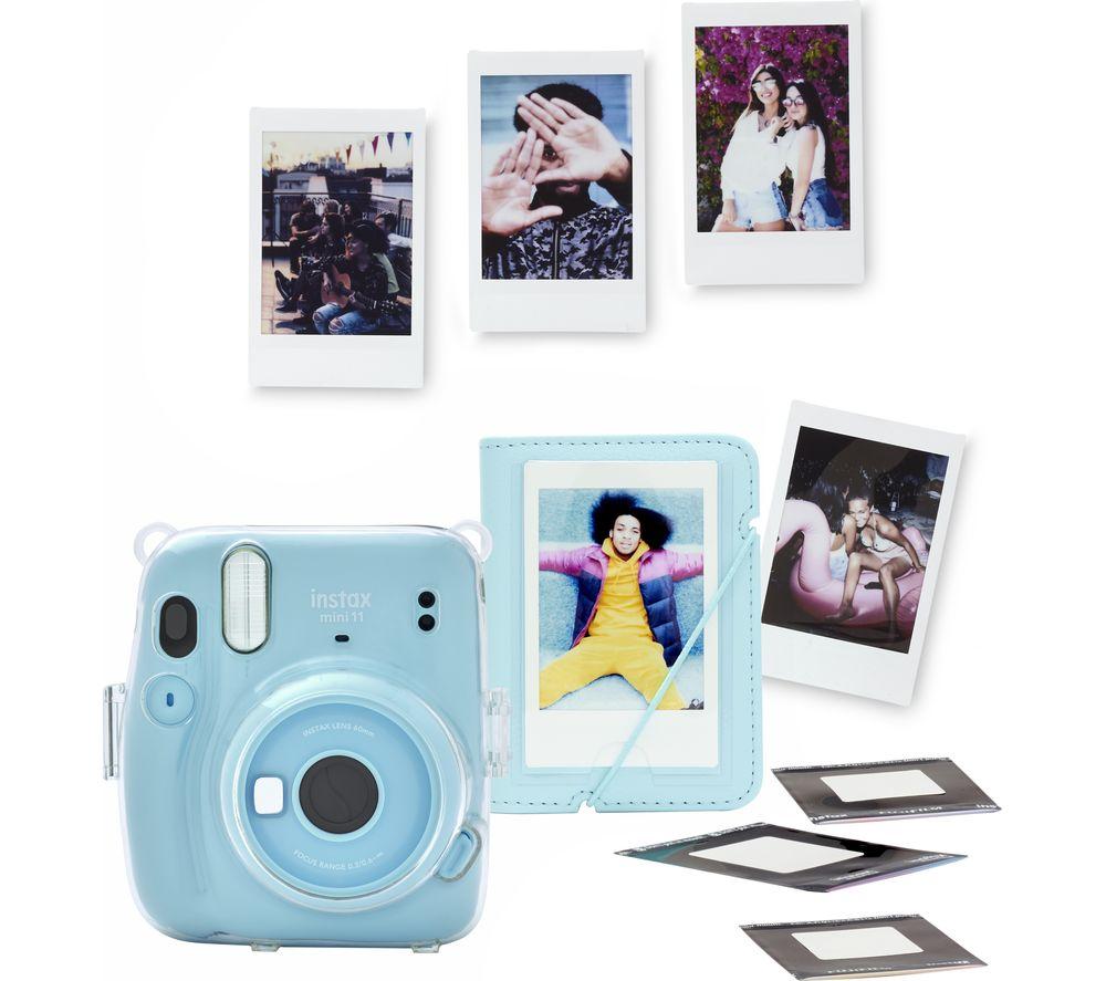 INSTAX mini 11 Instant Camera Bundle - Sky Blue