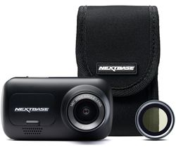 NEXTBASE 222G Full HD Dash Cam, Case & Polarising Filter Bundle - Black