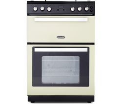 RMC61DFC 60 cm Dual Fuel Cooker - Cream & Black