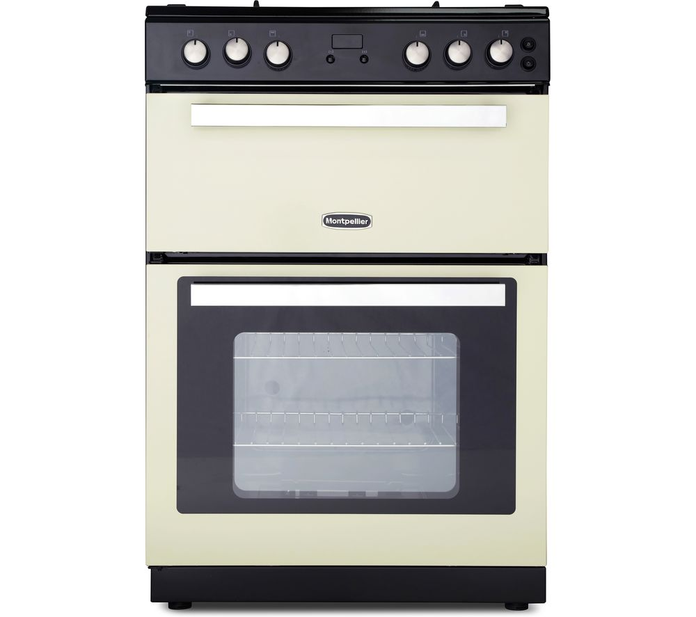 Image of MONTPELLIER RMC61DFC 60 cm Dual Fuel Cooker - Cream & Black, Cream