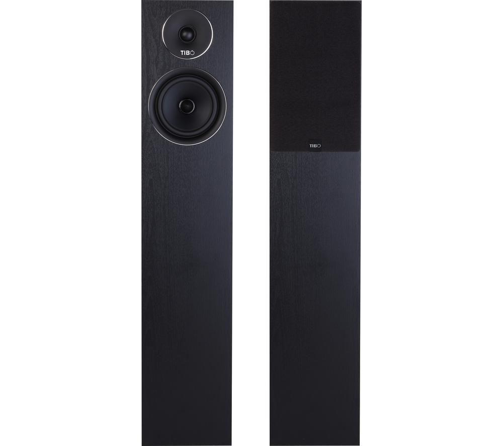 TIBO Harmony 8 Floorstanding Speakers - Black Ash