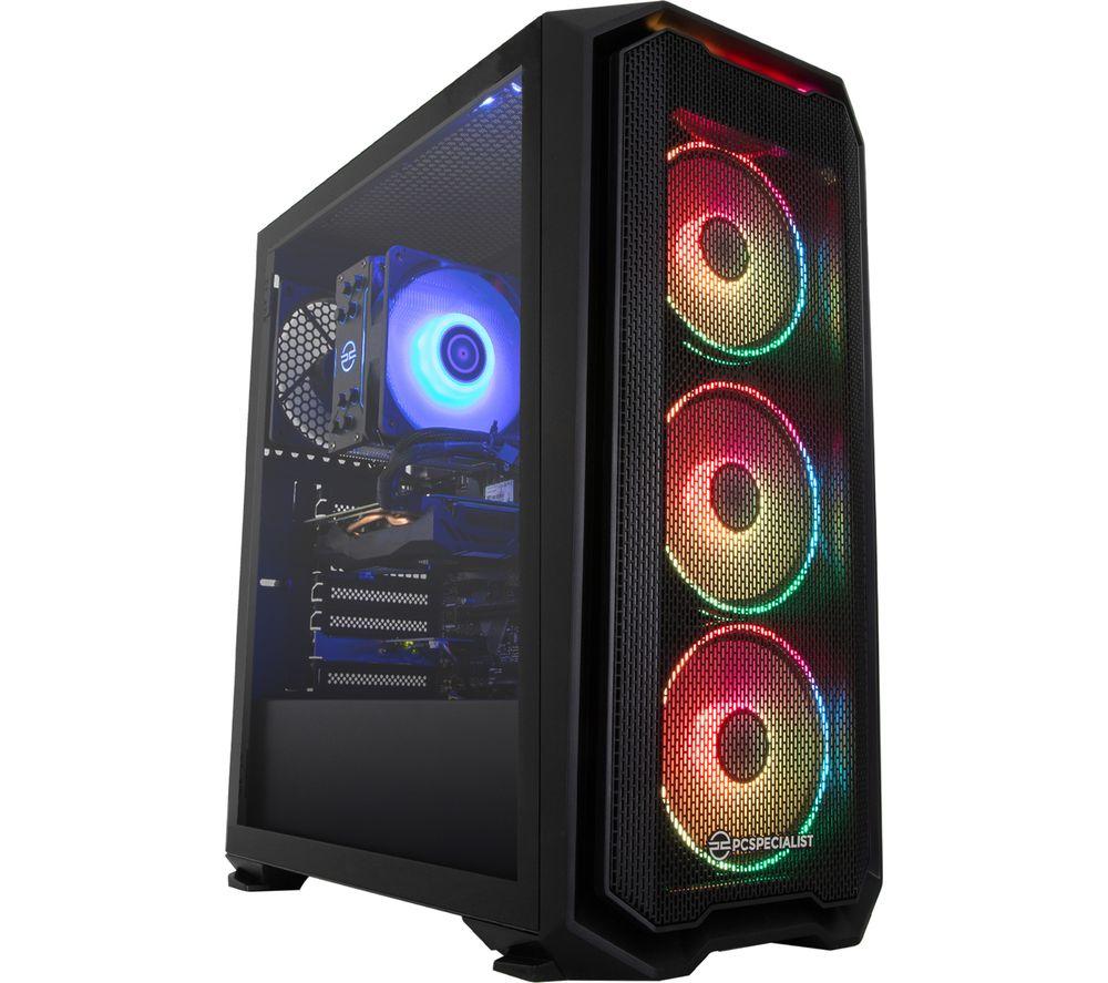 Image of PC SPECIALIST Tornado A5XT Gaming PC - AMD Ryzen 5, RX 6700 XT, 2 TB HDD & 512 GB SSD, Transparent