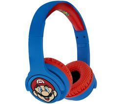Super Mario SM0694 Wireless Bluetooth Kids Headphones - Blue & Red