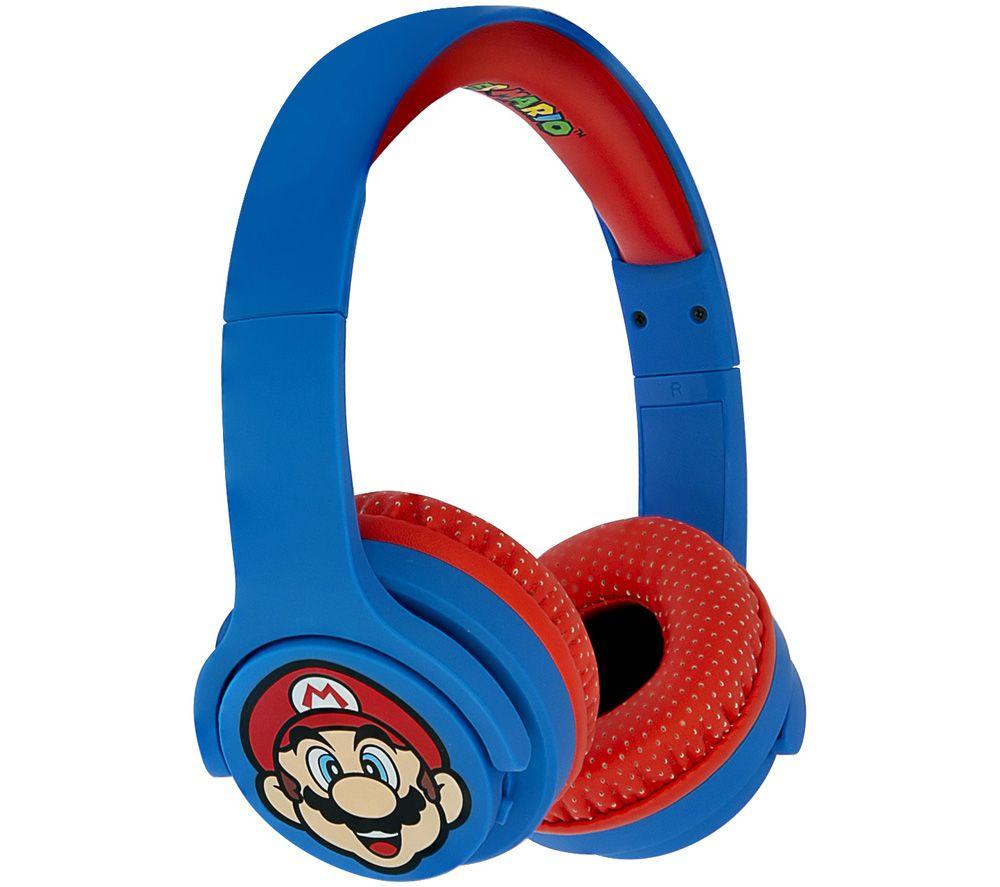 OTL Super Mario SM0694 Wireless Bluetooth Kids Headphones - Blue & Red