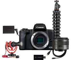 EOS M50 Mark II Mirrorless Camera Live Streaming Kit with EF-M 15-45 mm f/3.5-6.3 IS STM Lens