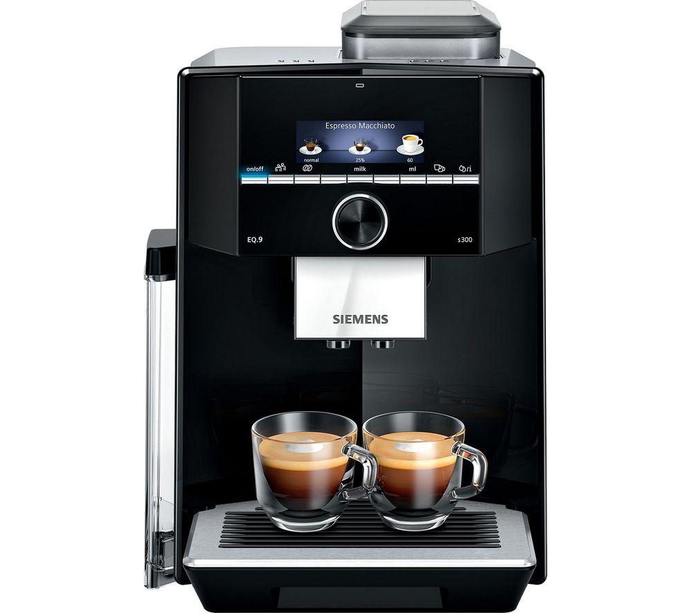 SIEMENS EQ.9 s300 TI923309RW Bean to Cup Coffee Machine - Black, Black
