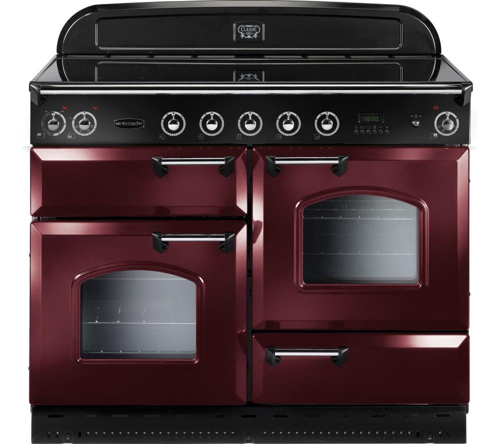 Image of RANGEMASTER Classic 110 Electric Induction Range Cooker - Cranberry & Chrome, Cranberry