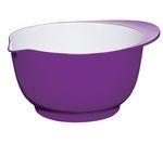COLOURWORKS 24 cm Mixing Bowl - Purple & White