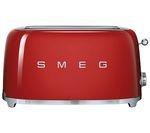 SMEG TSF02RDUK 4-Slice Toaster - Red