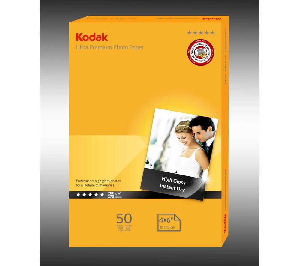 KODAK Ultra Premium 100 x 150 mm Photo Paper - 50 Sheets