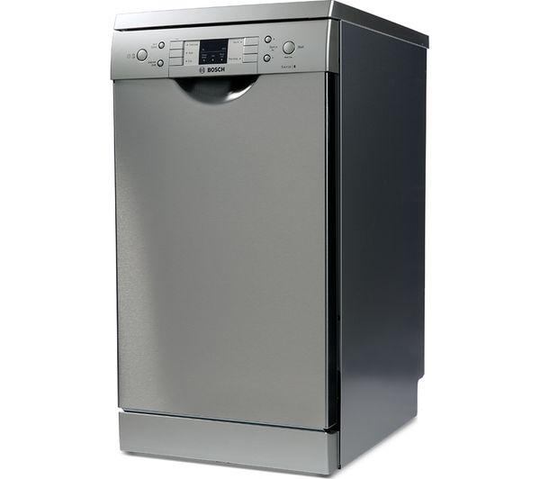 buy bosch serie 6 sps53m08gb slimline dishwasher silver free delivery currys. Black Bedroom Furniture Sets. Home Design Ideas