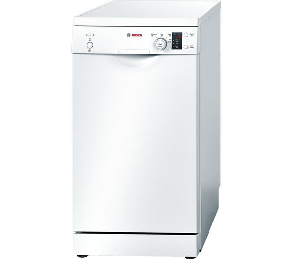 BOSCH Serie 4 SPS40E12GB Slimline Dishwasher - White