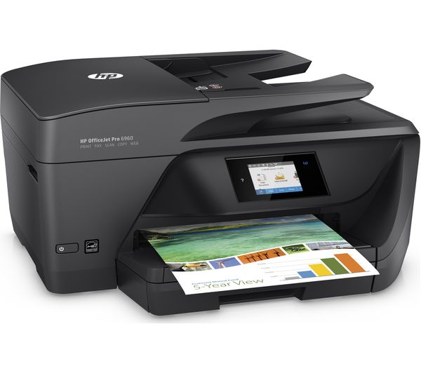 443ba5577a3 HP Officejet Pro 6960 All-in-One Wireless Inkjet Printer with Fax ...
