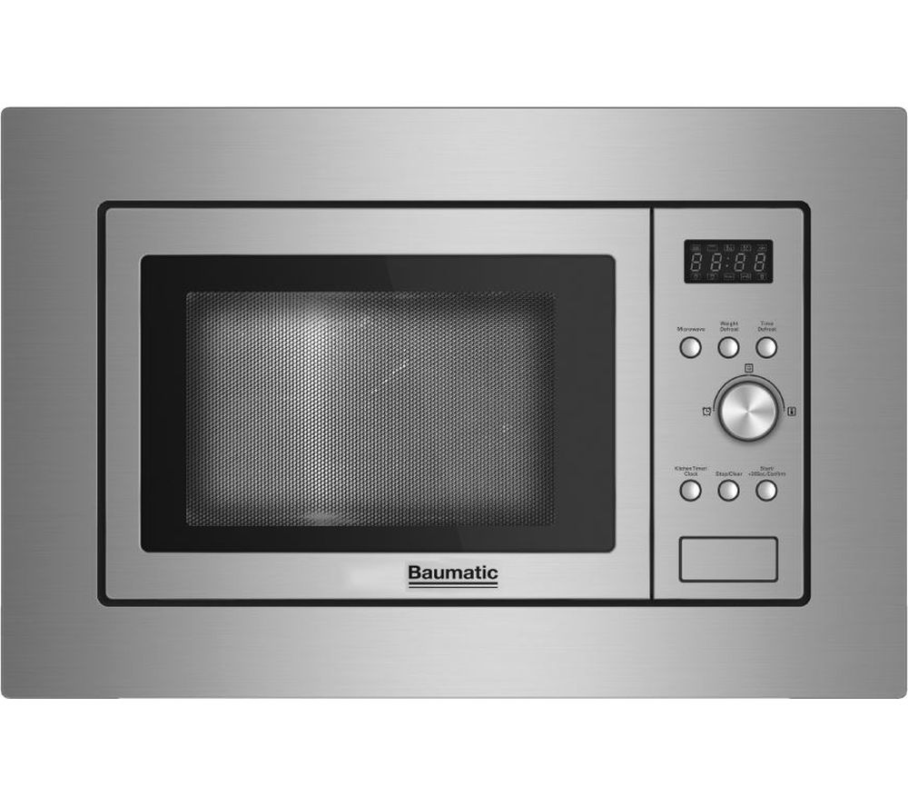 Image of BAUMATIC BMIS3817 Built-in Solo Microwave - Stainless Steel, Stainless Steel