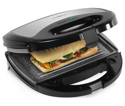 TOWER T27008 3-in-1 Sandwich Toaster - Black & Grey