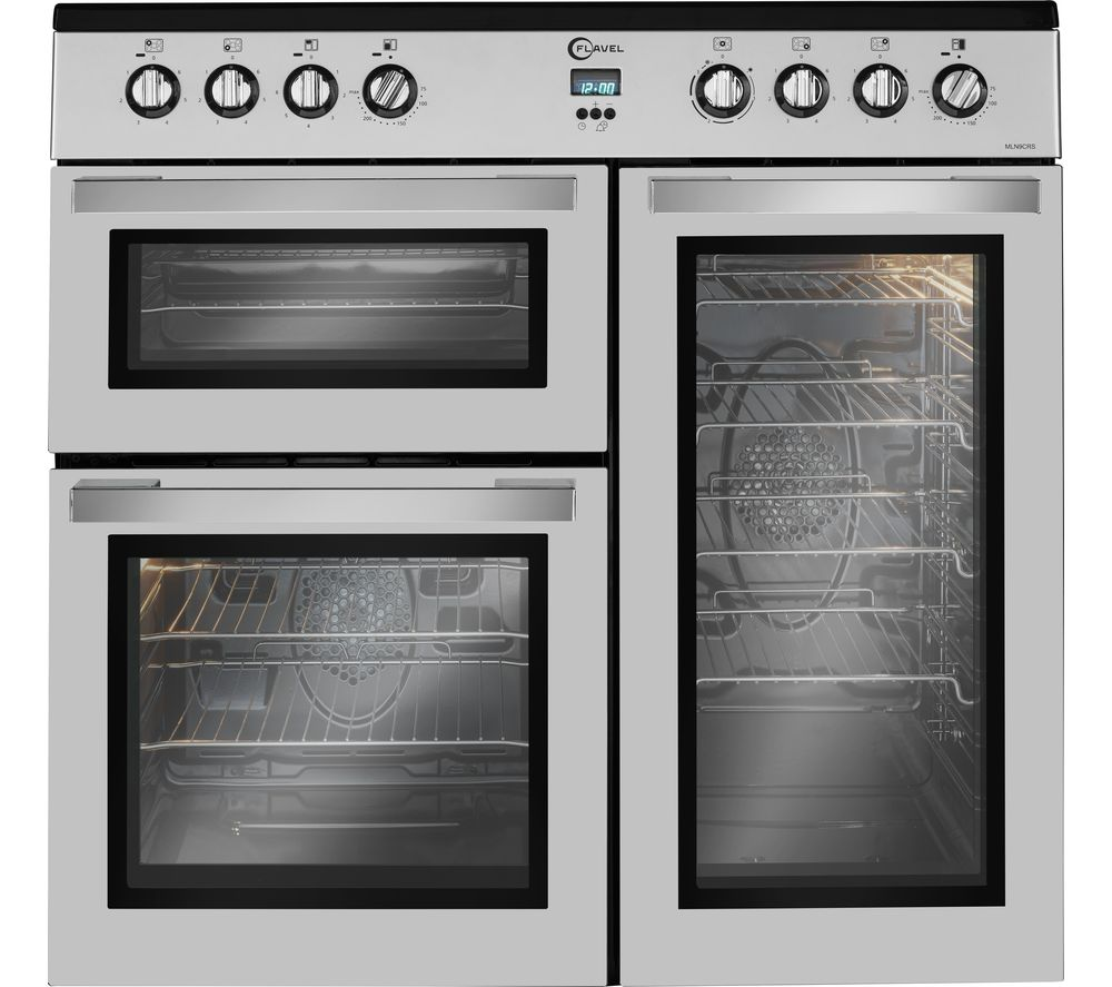 FLAVEL MLN9CRS 90 cm Electric Range Cooker - Silver