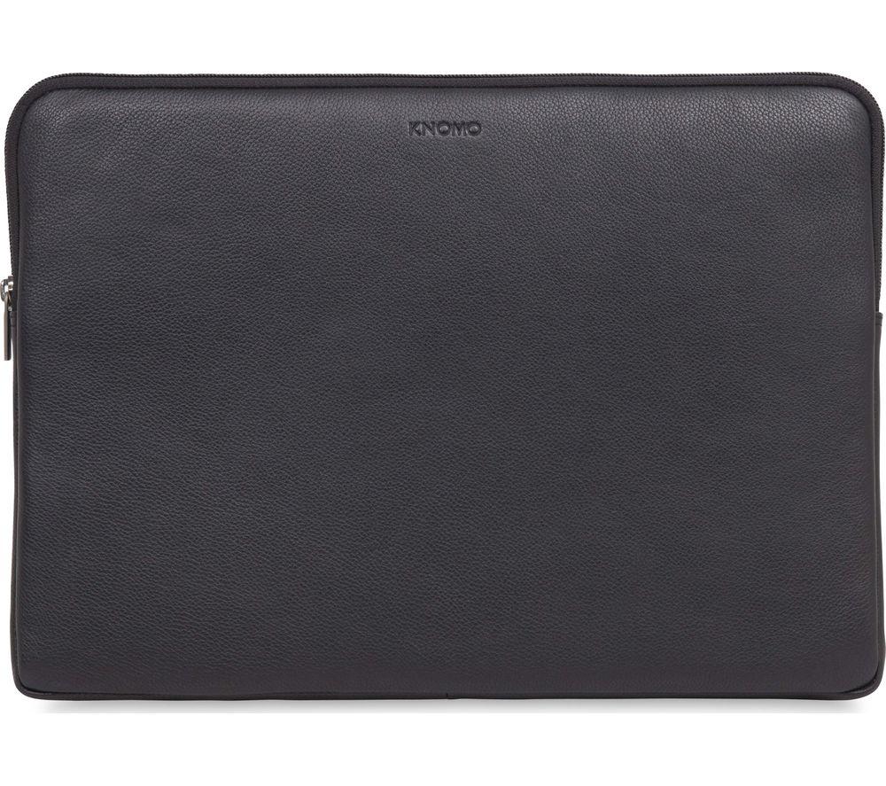 "KNOMO 45-102-BLK 15"" Leather Laptop Sleeve - Black"