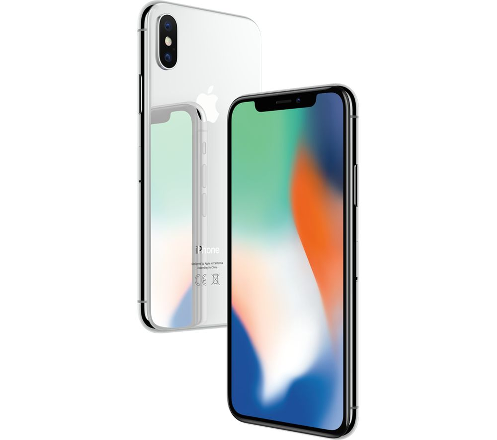 buy apple iphone x 64 gb silver free delivery currys. Black Bedroom Furniture Sets. Home Design Ideas