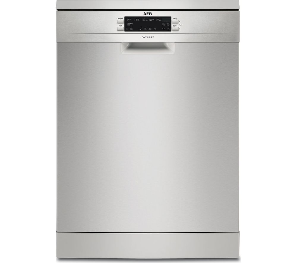 Image of AEG FFE62620PM Full-size Dishwasher - Silver, Stainless Steel