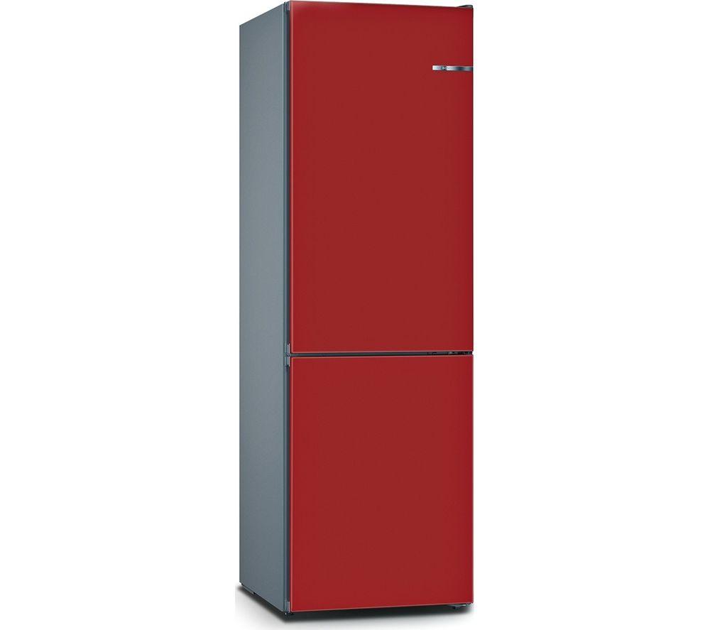 Image of BOSCH Serie 4 Vario Style KGN36IJ3AG 60/40 Fridge Freezer - Cherry Red, Red