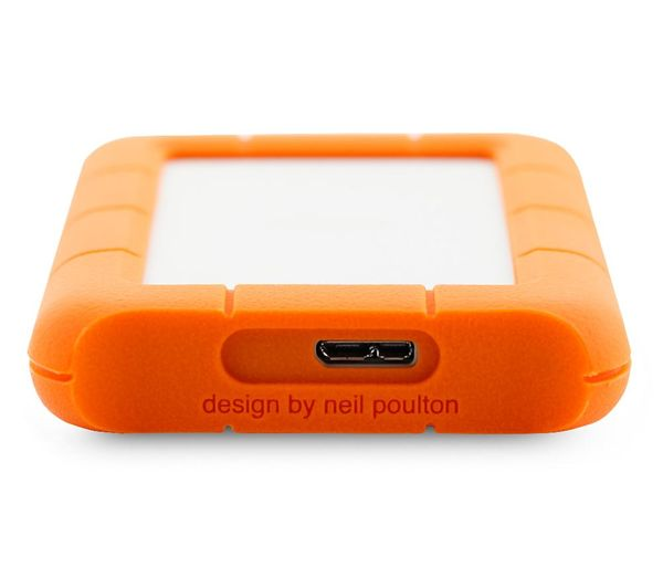 Lacie Rugged Mini Portable Hard Drive For Mac 1 Tb Orange Silver