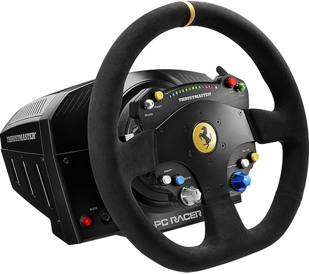THRUSTMASTER TS-PC Racer Ferrari 488 Challenge Edition Racing Wheel - Black
