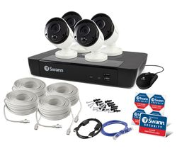 SWANN SWNVK-885804 8-Channel 4K Ultra HD Security System - 2 TB, 4 Cameras