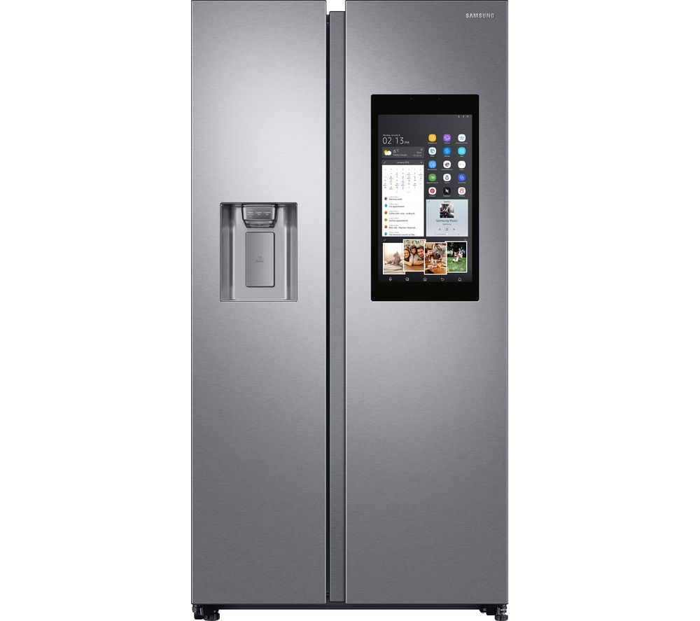 SAMSUNG Family Hub RS8000 RS68N8941SL/EU American-Style Smart Fridge Freezer - Aluminium
