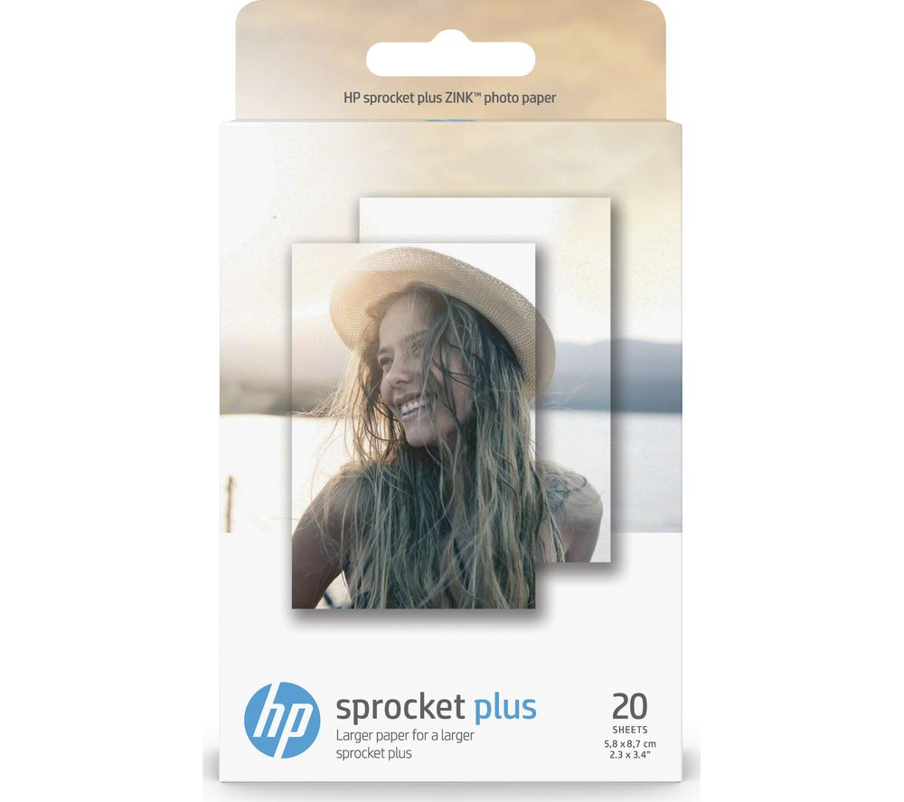 HP 2LY72A Sprocket Plus 5.8 x 8.7 cm Glossy Photo Paper - 20 Sheets