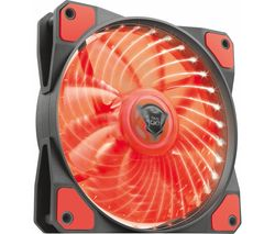 TRUST GXT 762R 120 mm Case Fan - Red LED