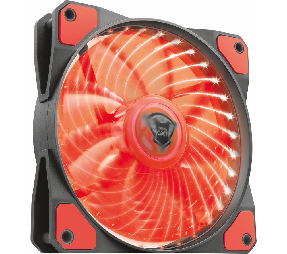 TRUST GXT 762R 120 mm Case Fan - Red LED