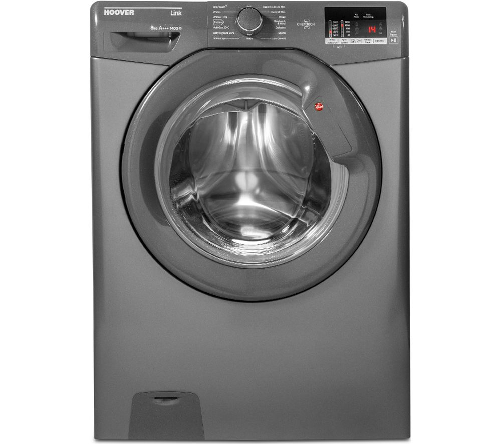 HOOVER Link DHL 1482D3R Smart 8 kg 1400 rpm Washing Machine - Graphite