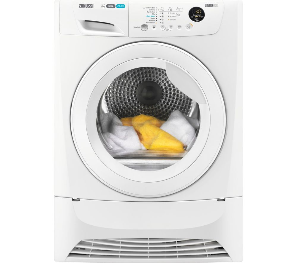 ZANUSSI ZDC8203WZ 8 kg Condenser Tumble Dryer - White, White