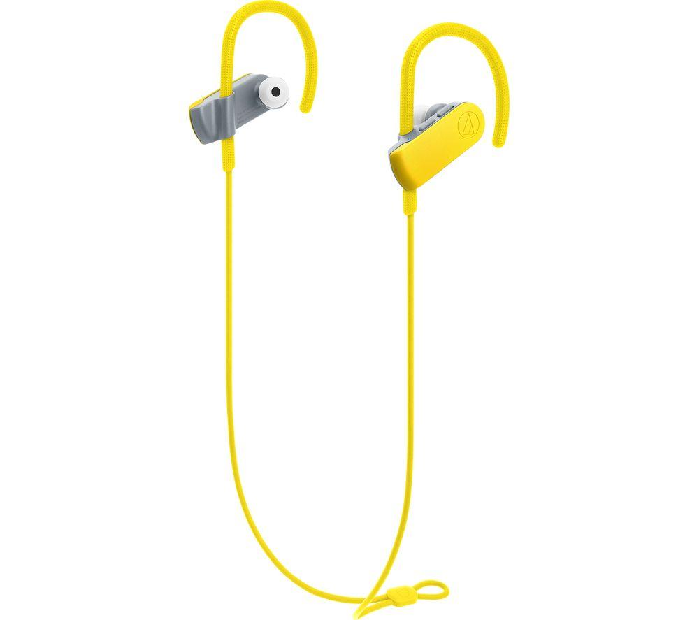 AUDIO TECHNICA SonicSport ATH-SPORT50BT Wireless Bluetooth Headphones - Yellow