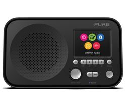 PURE Elan IR5 Portable DAB/FM Smart Bluetooth Radio - Black