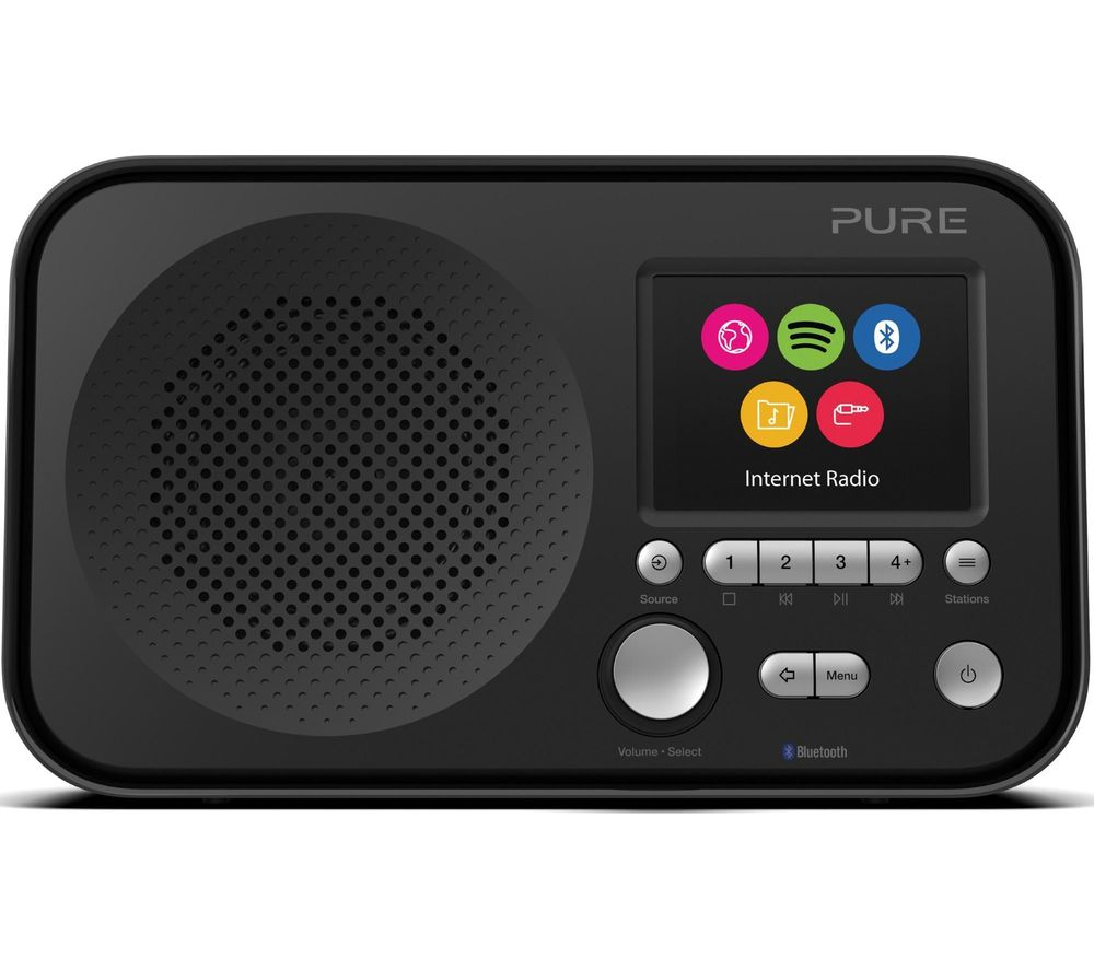 PURE Elan IR5 Portable DAB/FM Smart Bluetooth Radio - Black, Black