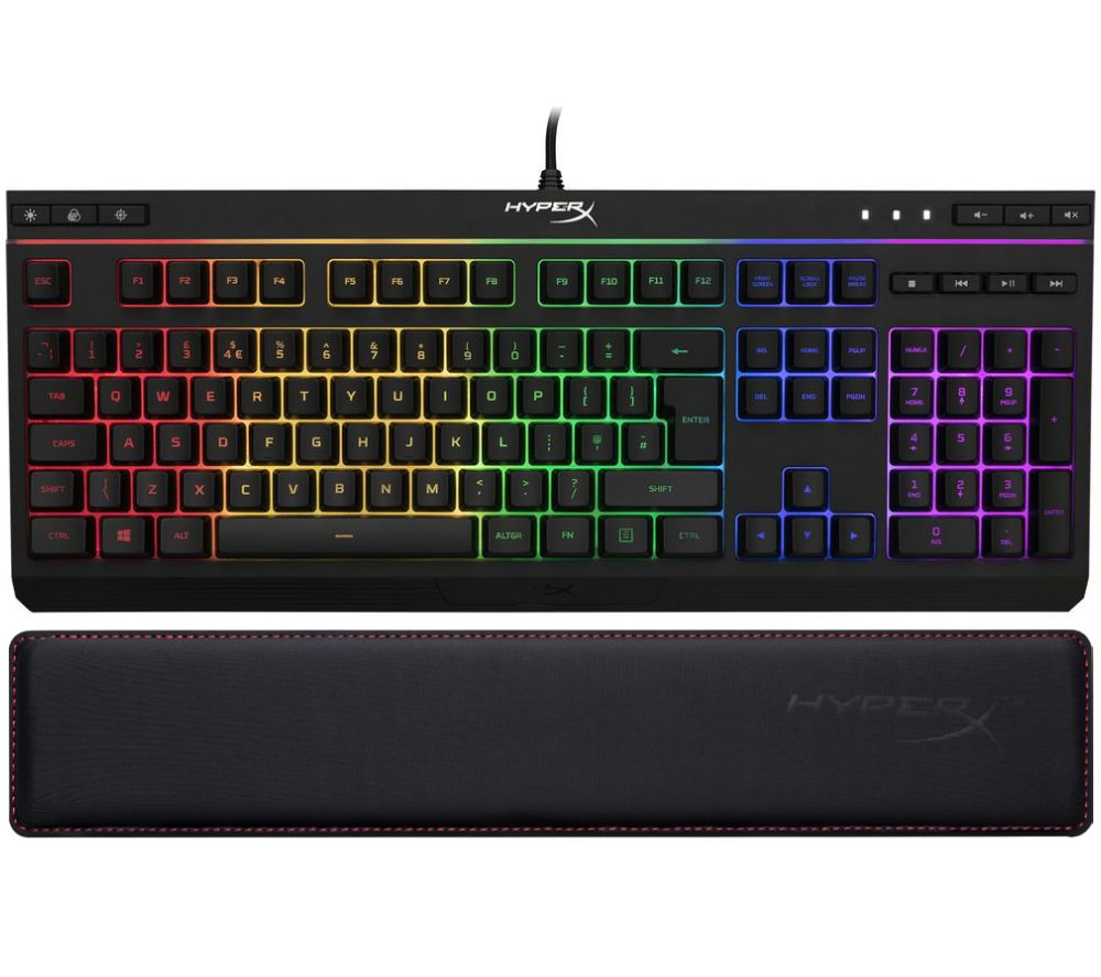 HYPERX Alloy Core RGB Gaming Keyboard & Wrist Rest Bundle