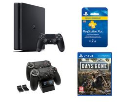 SONY PlayStation 4, Days Gone, Twin Docking Station & PlayStation Plus Bundle - 1 TB