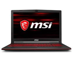 "MSI GL63 15.6"" Intel® Core™ i7 GTX 1660 Ti Gaming Laptop - 512 GB SSD, Black"