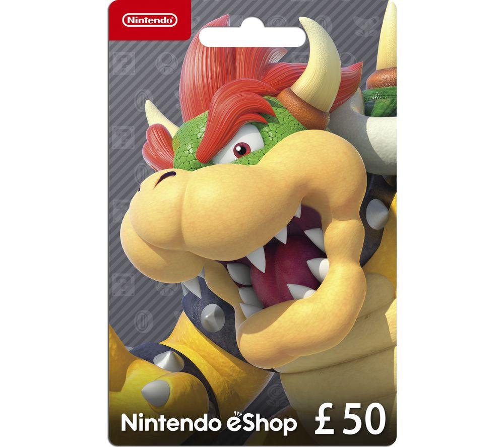 NINTENDO ESHOP eShop Gift Card - £50