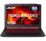 £649, ACER Nitro 5 AN515-52 15.6inch Intel® Core™ i5 GTX 1050 Gaming Laptop - 256 GB SSD, Intel® Core™ i5-8300H Processor, RAM: 8GB / Storage: 256GB SSD, Graphics: NVIDIA GeForce GTX 1050 4GB, Full HD display, Battery life:Up to 7 hours,