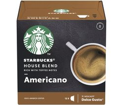 STARBUCKS Dolce Gusto House Blend Americano Coffee Pods - Pack of 12